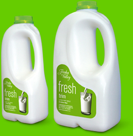 Fresha Valley trim milk bottles